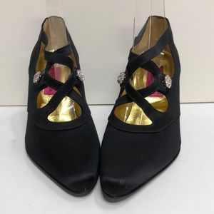 Christian Lacroix Made in Italy Black Satin Pump